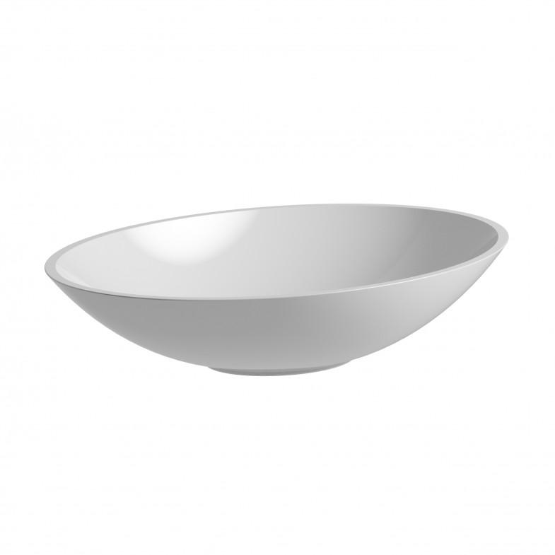 CHRIS BERGEN Waschtischschale oval, glänzend, aus Mineralguss