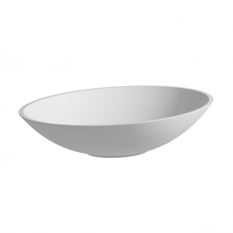 CHRIS BERGEN Waschtischschale oval, matt, aus Mineralguss
