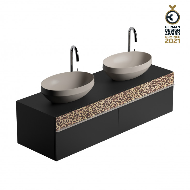 CHRIS BERGEN Design-Doppelwaschtischunterschrank