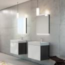 CHRIS BERGEN Designlichtspiegel, Maße: 70 cm x 60 cm x 2 cm